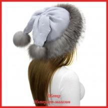 Трикотажная шапка с лисой Bluefrost Зайка