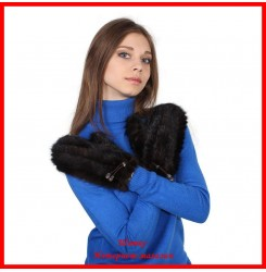 Варежки Софья из вязаной норки 1