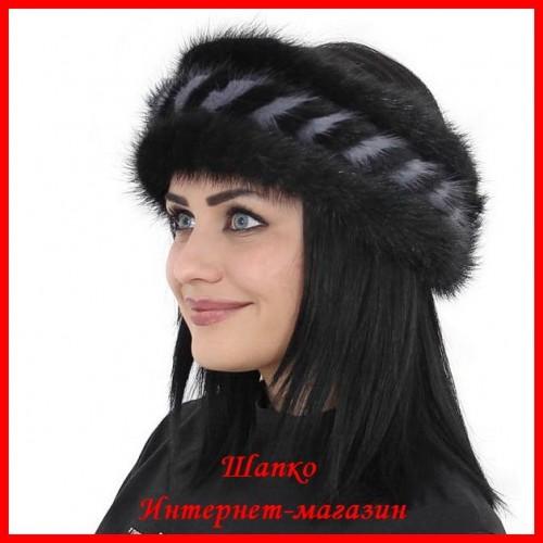 Меховая повязка Алина