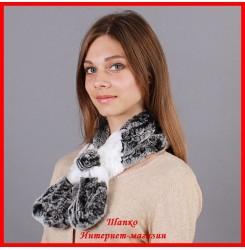 Меховой шарф Бабочка 1