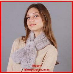Меховой шарф Лаванда