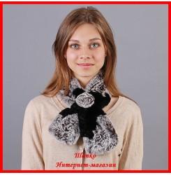 Меховой шарф Бабочка 2
