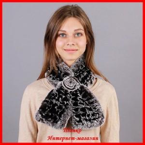 шали и шарфы из меха