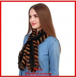 Меховой шарф из норки