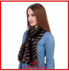 Меховой шарф из норки 2