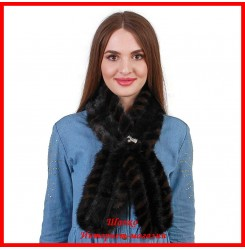 Меховой шарф из норки 4