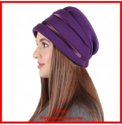 Демисезонная шапка Стефани