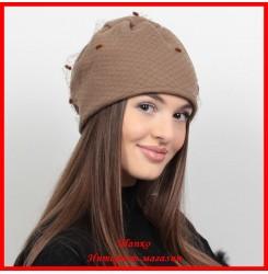 Демисезонная шапка Софи