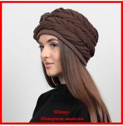 Демисезонная шапка Вероника