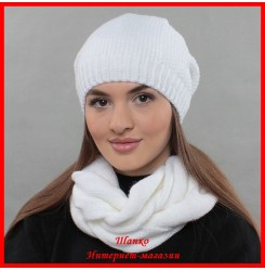 Комплект Виктория (шапка, снуд, митенки)