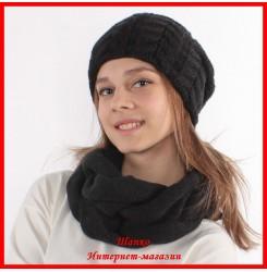Комплект Елена 8 (шапка, снуд, митенки)