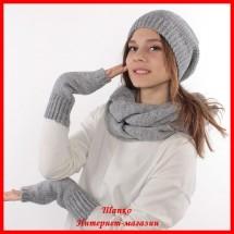 Комплект Виктория 6 (шапка, снуд, митенки)