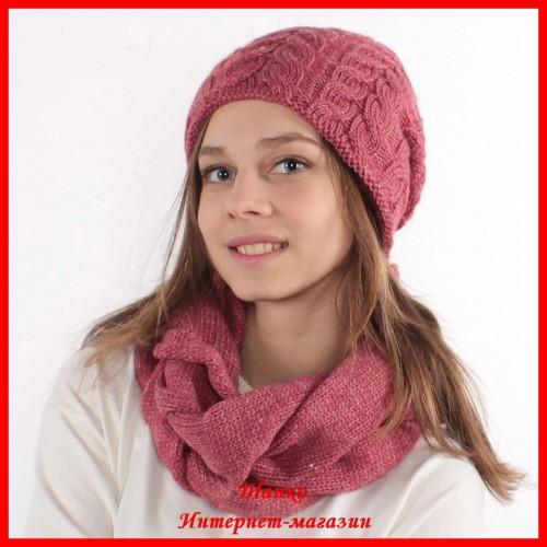 Комплект Елена 12 (шапка, снуд, митенки)
