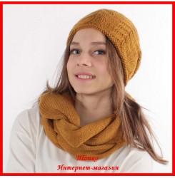 Комплект Елена 14 (шапка, снуд, митенки)
