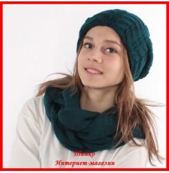Комплект Елена 15 (шапка, снуд, митенки)