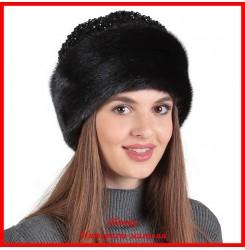 Норковая шапка Божале с каракулем