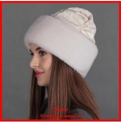 Норковая шапка Божале жемчуг