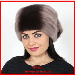Норковая шапка Косынка