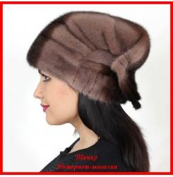 Норковая шапка Косынка 1