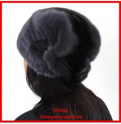 Норковая шапка Косынка 2