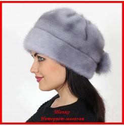 Норковая шапка Роза 11