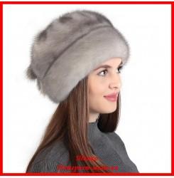 Норковая шапка Роза 8