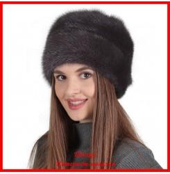Норковая шапка Роза 10