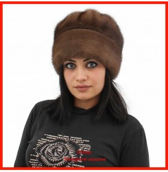 Норковая шапка Роза 1