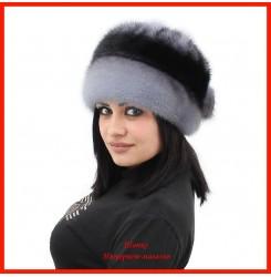 Норковая шапка Роза 2