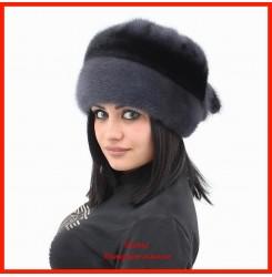 Норковая шапка Роза 3