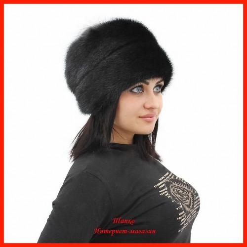 Норковая шапка Роза 4
