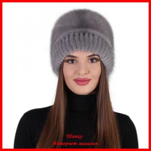 Норковая шапка Зайка
