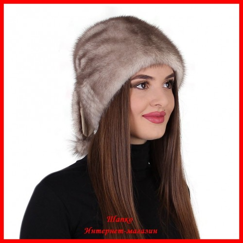 Норковая шапка Зайка 1