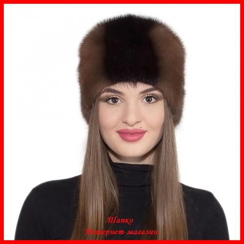 Норковая шапка Камелия