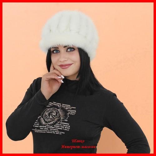 Шапка Биатрис 6 из вязаной норки