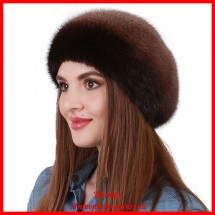 Берет Татьяна из вязаной норки