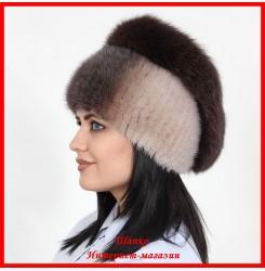 Меховая шапка Диана